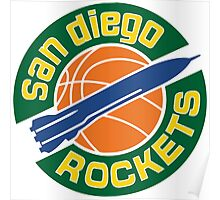 San Diego Rockets Poster