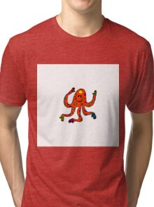 octopus in mittens Tri-blend T-Shirt