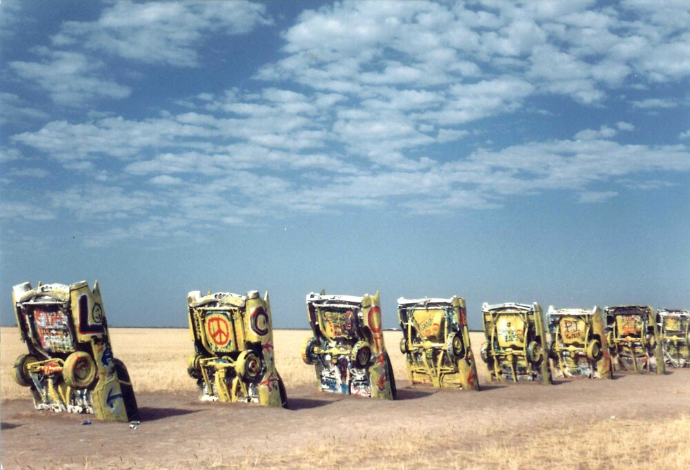 Cadillac Ranch, Texas by mkpshay