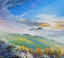 Sunrise in Kerry mountains  by Roman Burgan