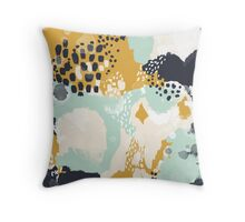 Tinsley - Modern abstract painting in bold, fresh colors Throw Pillow