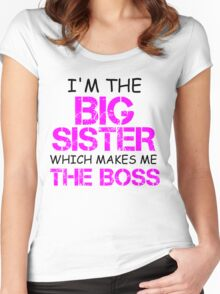 I'M THE BIG SISTER WHICH MAKES ME THE BOSS Women's Fitted Scoop T-Shirt