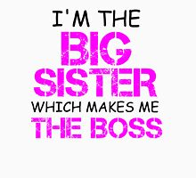 I'M THE BIG SISTER WHICH MAKES ME THE BOSS Womens Fitted T-Shirt