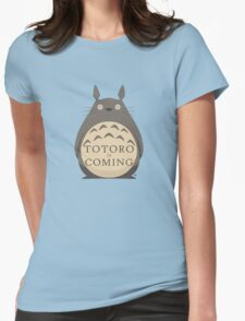 Totoro Is Coming Womens Fitted T-Shirt
