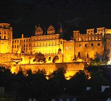 Heidelberg castle at night by Jeremiah Godfrey