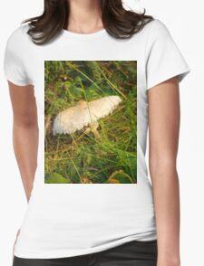 White Toadstool 6 Womens Fitted T-Shirt