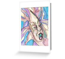 flame eating ballerina Greeting Card