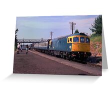 British Rail Class 33 Diesel at Ludlow, c. 1983 Greeting Card
