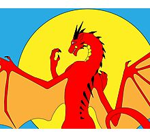 Annoth the Warrior Dragon Photographic Print