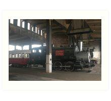 Georgia Central RR Engine #8, Retired Art Print