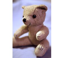 Baby Teddy Blue Photographic Print