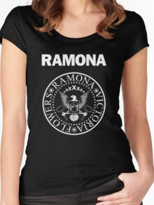 Ramona - White Women's Fitted Scoop T-Shirt