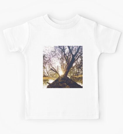 Bottom View of Pine Tree 3 Kids Tee