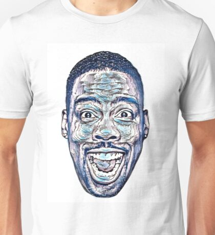 Abstract Chris Rock in Blues Unisex T-Shirt