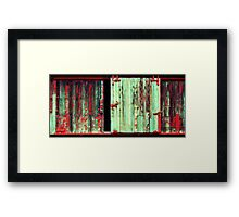 What the hell is behind that door ! Framed Print