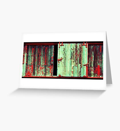 What the hell is behind that door ! Greeting Card