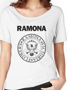 Ramona - Black Women's Relaxed Fit T-Shirt