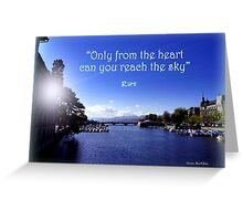 Zurich and Rumi Greeting Card