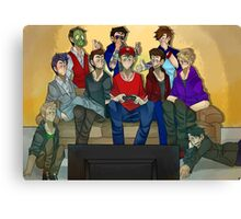 Creatures + Spencer Game Night  Canvas Print
