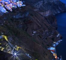Night falling over the Caldera of Santorini Sticker