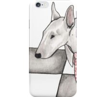 Bull terrier vector iPhone Case/Skin