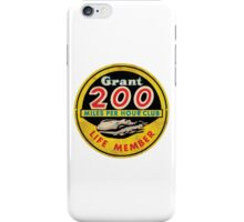 Grant 200 MPH Club iPhone Case/Skin