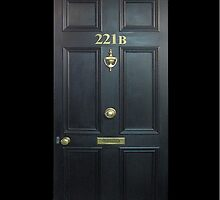 Black Door with 221b number by MagicCase