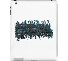 Cerebral cracked text art iPad Case/Skin