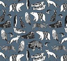 Arctic Animals - Payne's Grey by Andrea Lauren by Andrea Lauren