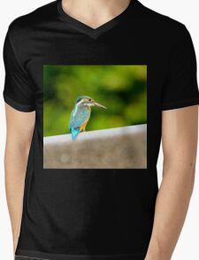 eisvogel kingfisher Alcedo atthis Mens V-Neck T-Shirt