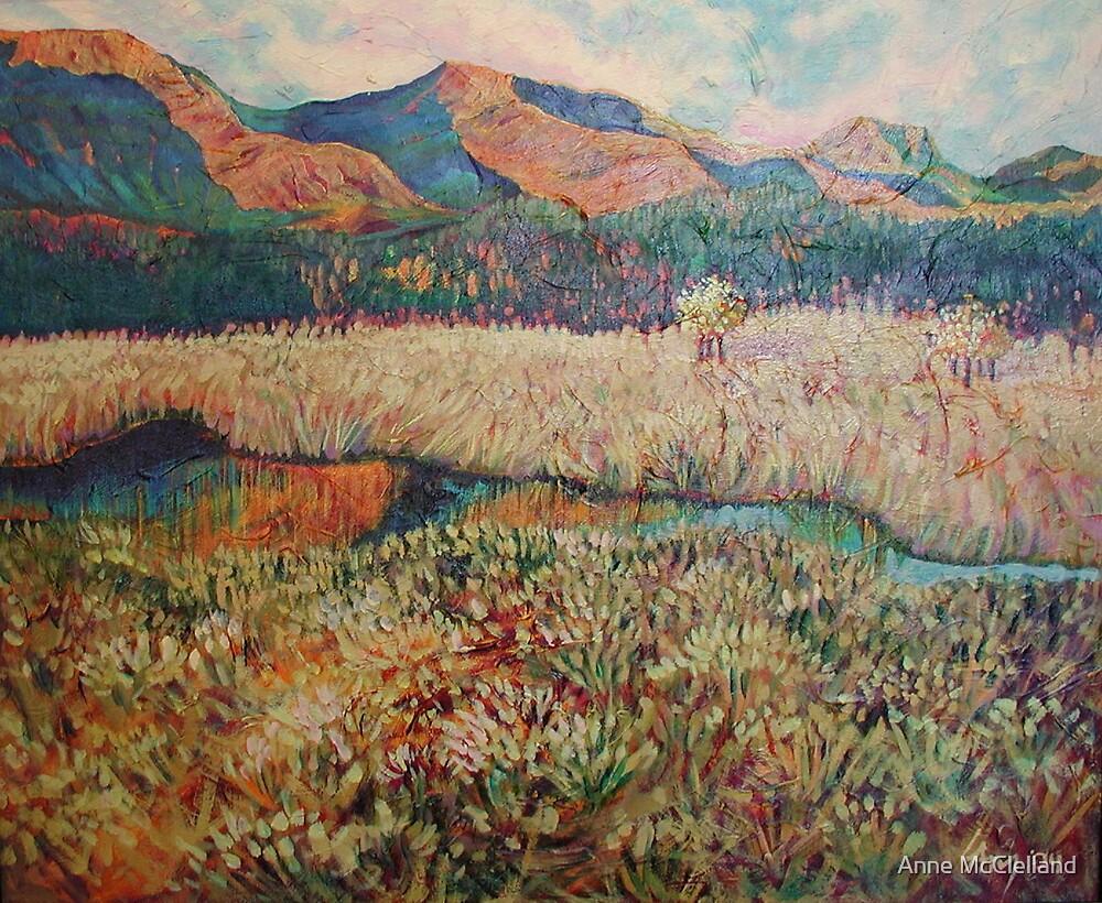 Sofa Moutain Sunrise by Anne McClelland