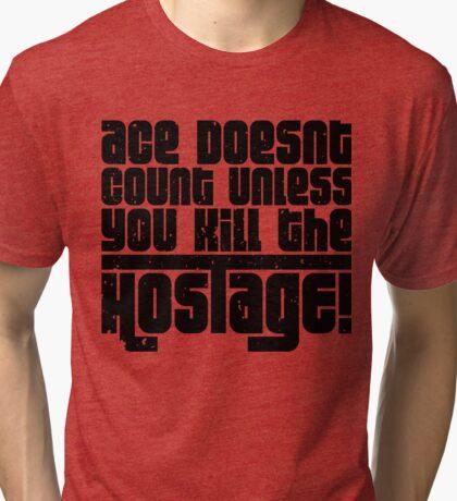 Hostage Ace #2 - Black Gritty Tri-blend T-Shirt