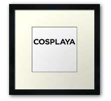 Cosplaya Framed Print