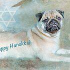 "Pug ""Happy Hanukkah"" ~ Greeting Card by Susan Werby"