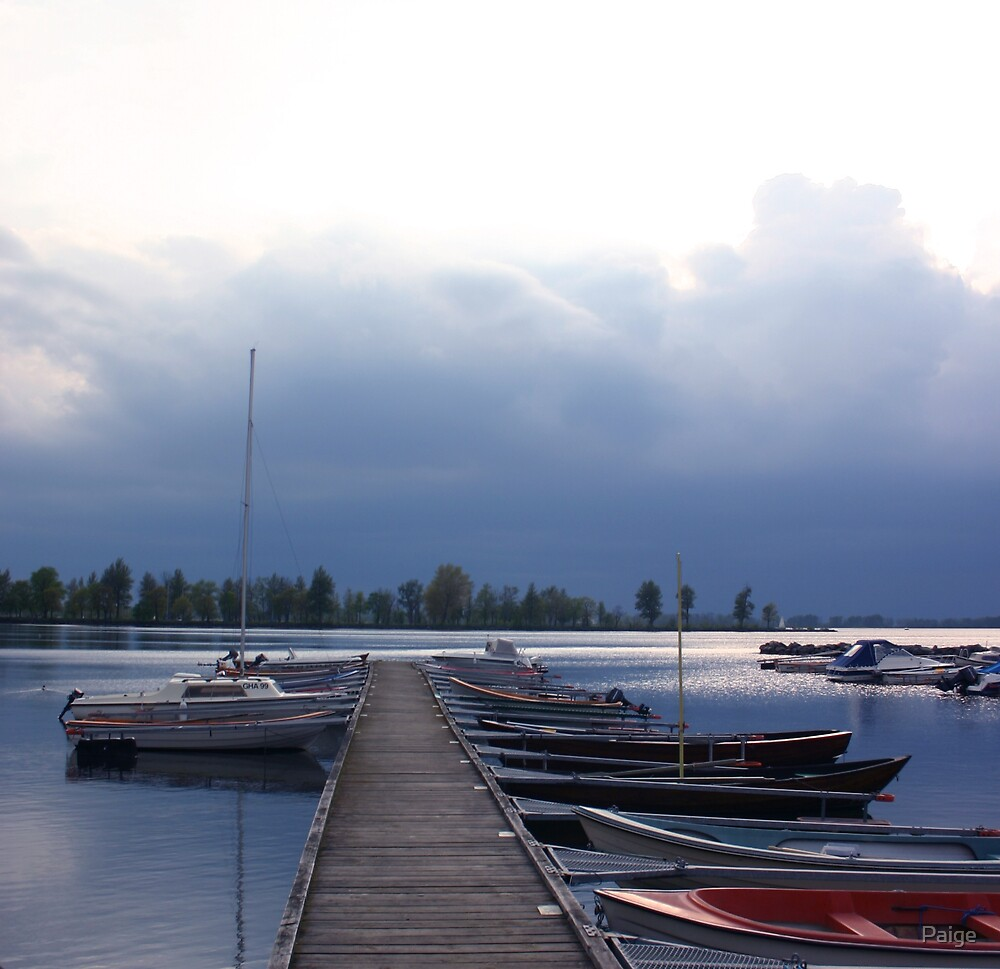 Storms over Vadstena by Paige