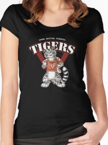 Team WHITE TIGER (red) Women's Fitted Scoop T-Shirt