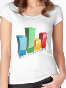 Statistics Women's Fitted Scoop T-Shirt