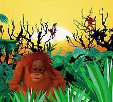 Monkey Sadness by Dan Marshall