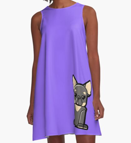 Monty the French Bulldog A-Line Dress