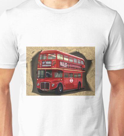 London Routemaster Double Decker Bus Unisex T-Shirt