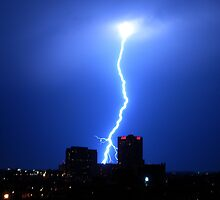 Lightning over Atlanta by Paige