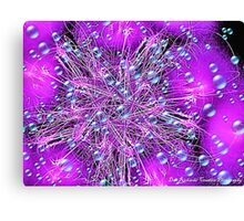 Electronic Fireworks and Bubbles Canvas Print