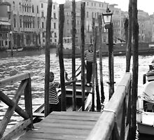 Venice - Gondoliers by Bea Kallos