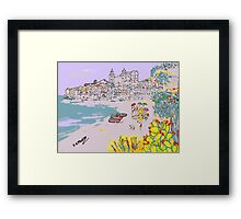 A view of Cefalu' Framed Print
