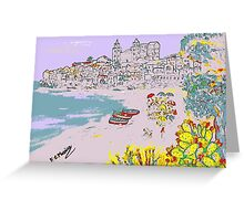 A view of Cefalu' Greeting Card