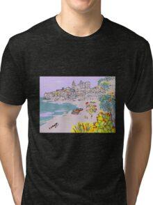 A view of Cefalu' Tri-blend T-Shirt