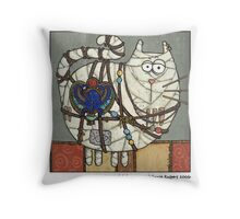 Cat Mummy Throw Pillow