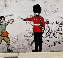 Middle Finger Street Art London Urban Wall Graffiti Artist Prolifik by unpublicartists