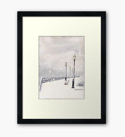 SALTWATER SNOW Framed Print