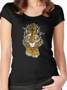 STUCK - Brown Tiger Women's Fitted Scoop T-Shirt